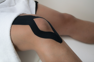 Kinesio tape on knee